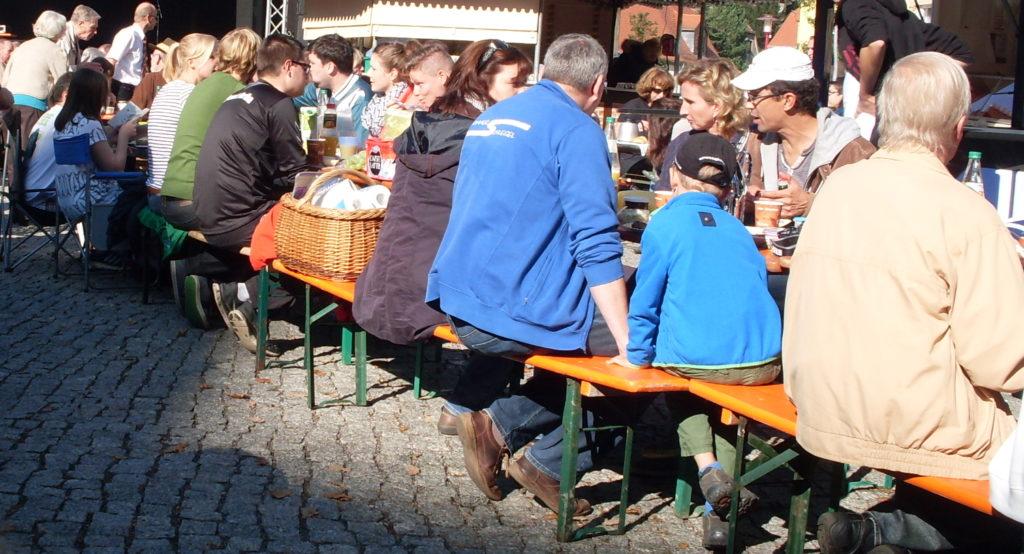 Einheitsfrühstück beim Tharandter Stadtfest 2014